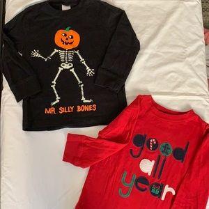 🎃Kids Holiday shirt bundle 🎄